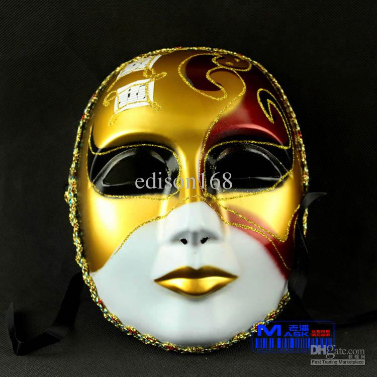 Drawn masks full mask Colored  Face Music New