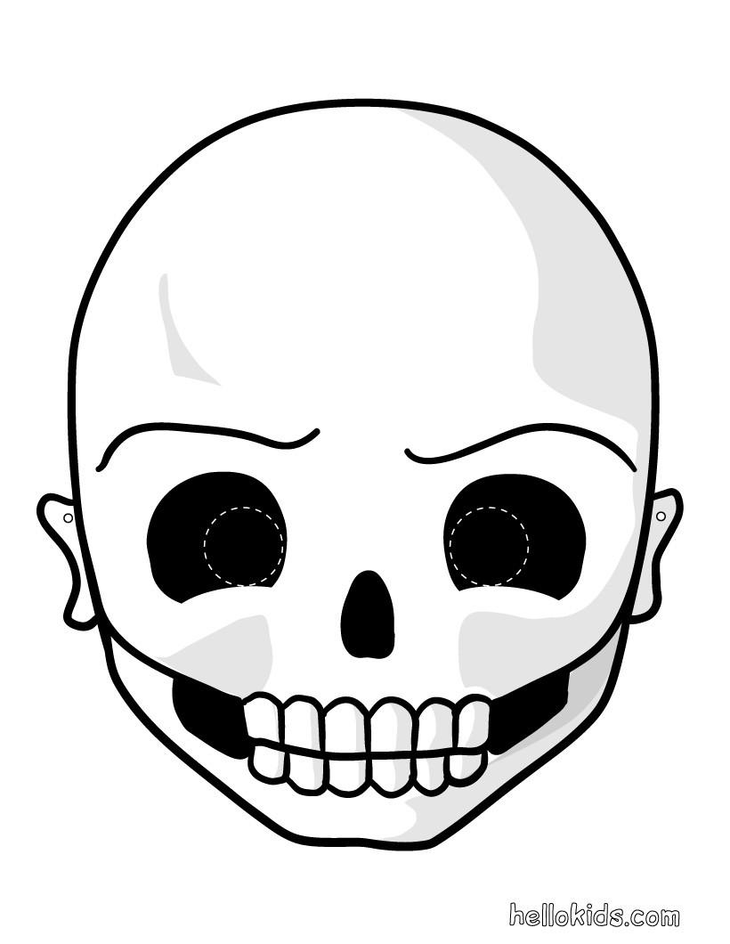 Drawn masks halloween mask Halloween skeleton_mask Masks