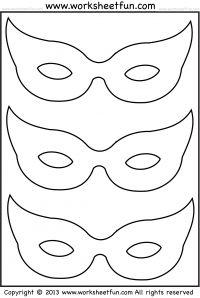 Drawn masks halloween mask Activity  Mardi Village mask