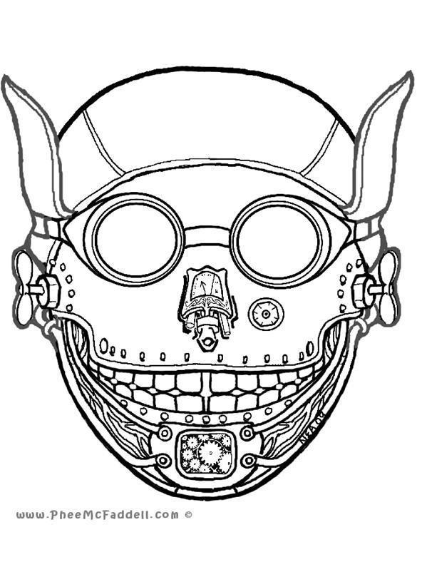 Drawn masks halloween mask  Masks Last Quickie: Halloween