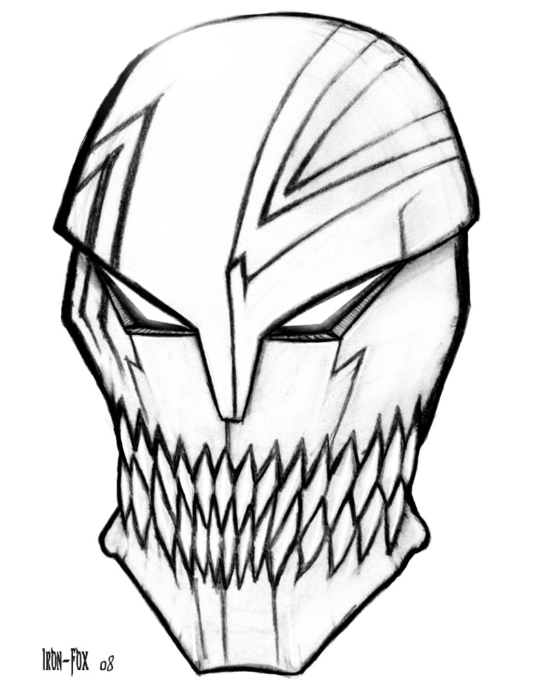 Drawn mask Mask Images Pages to Coloring