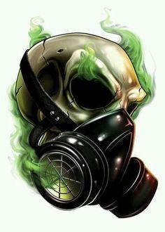 Drawn masks love Image creepy gas Pinterest bEING