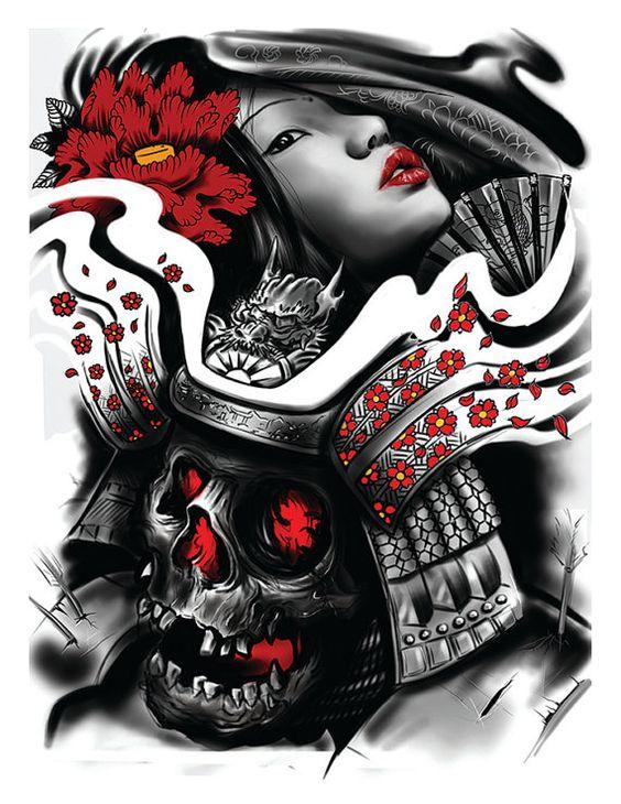 Drawn masks love Love Samurai a love bound