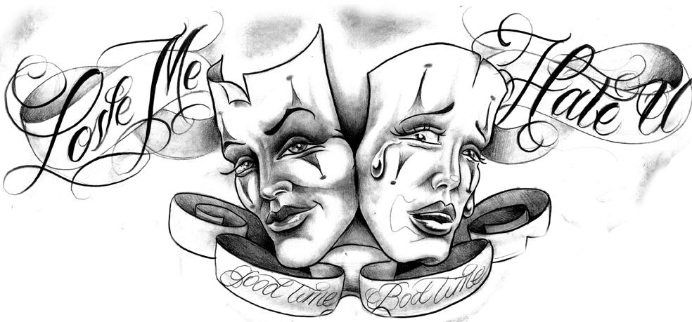 Drawn masks love Bad Tattoo Times Tattoo Masks