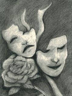 Drawn masks love Sketch Comedy Tattoo tattoo masks