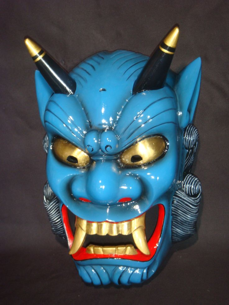 Drawn masks love This Oni mask on Best