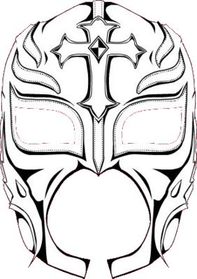 Drawn masks rey mysterio PSDs MASK MISTERYO Detail PSD