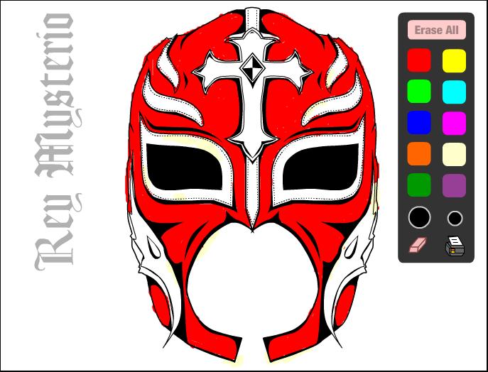 Drawn masks rey mysterio Mysterio Pinayprincesa White and Red