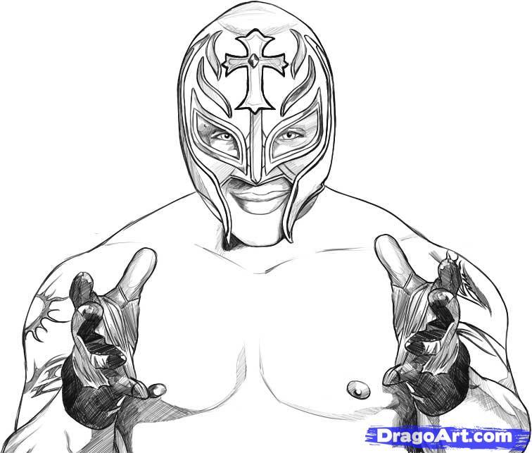 Drawn masks rey mysterio  Draw How step mysterio