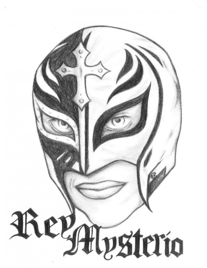 Drawn masks rey mysterio Mask Rey 99coloring Pages Pages