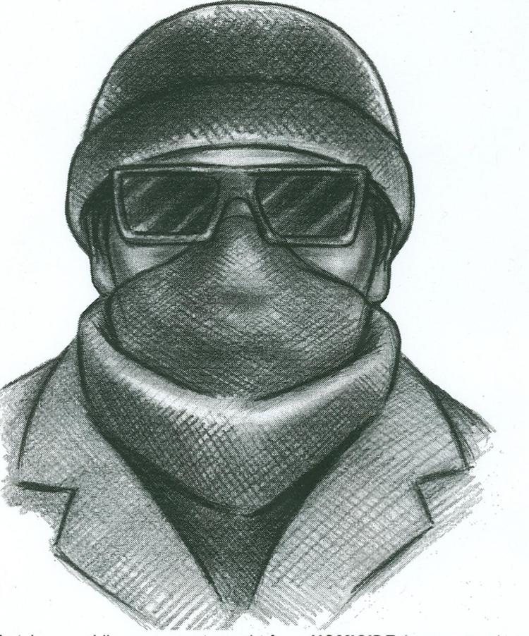 Drawn masks robber NYPD face drawing robbery mask