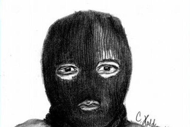 Drawn masks robber Wanted  sketch cops robber