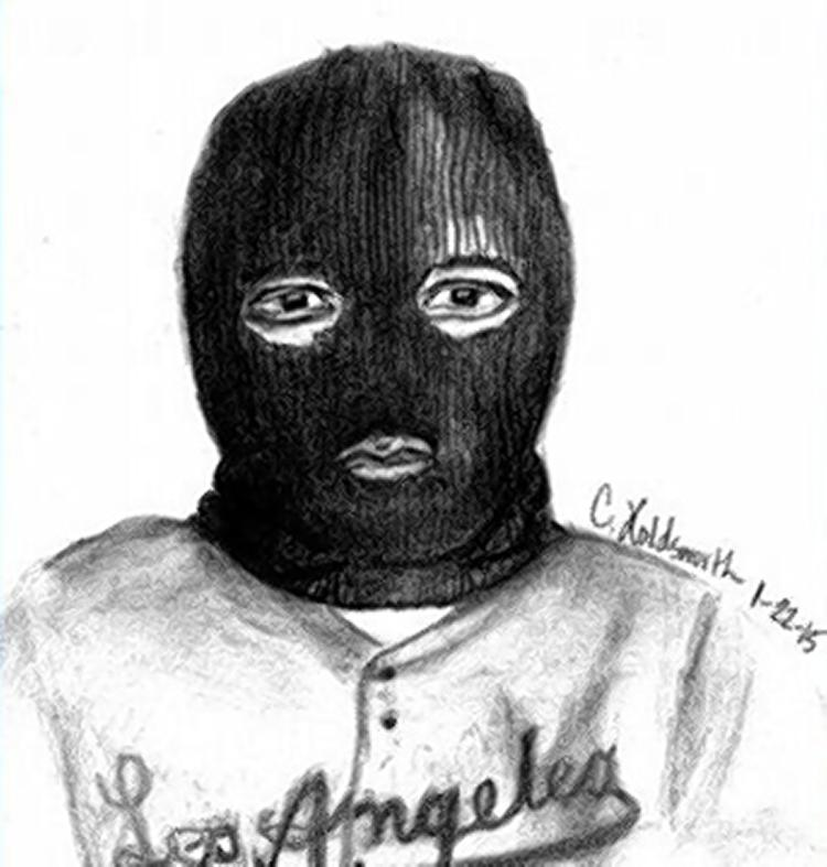 Drawn masks robber Show this wanted face sketch