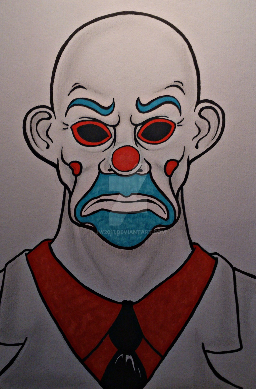 Drawn masks robber Robber by Joker's on Bank