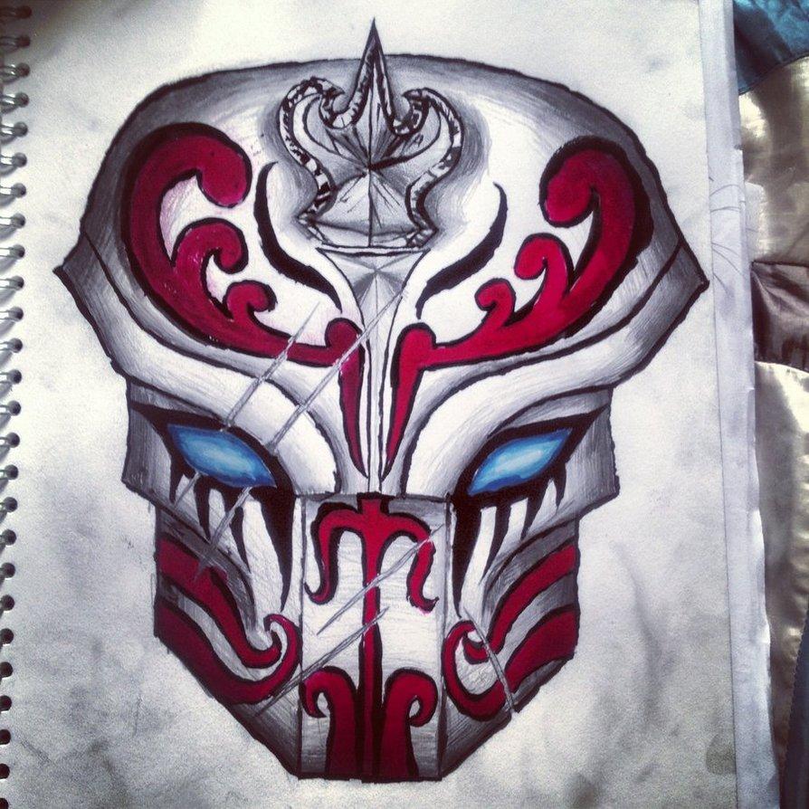 Drawn masks samurai Mask Naqieb Samurai drawing on