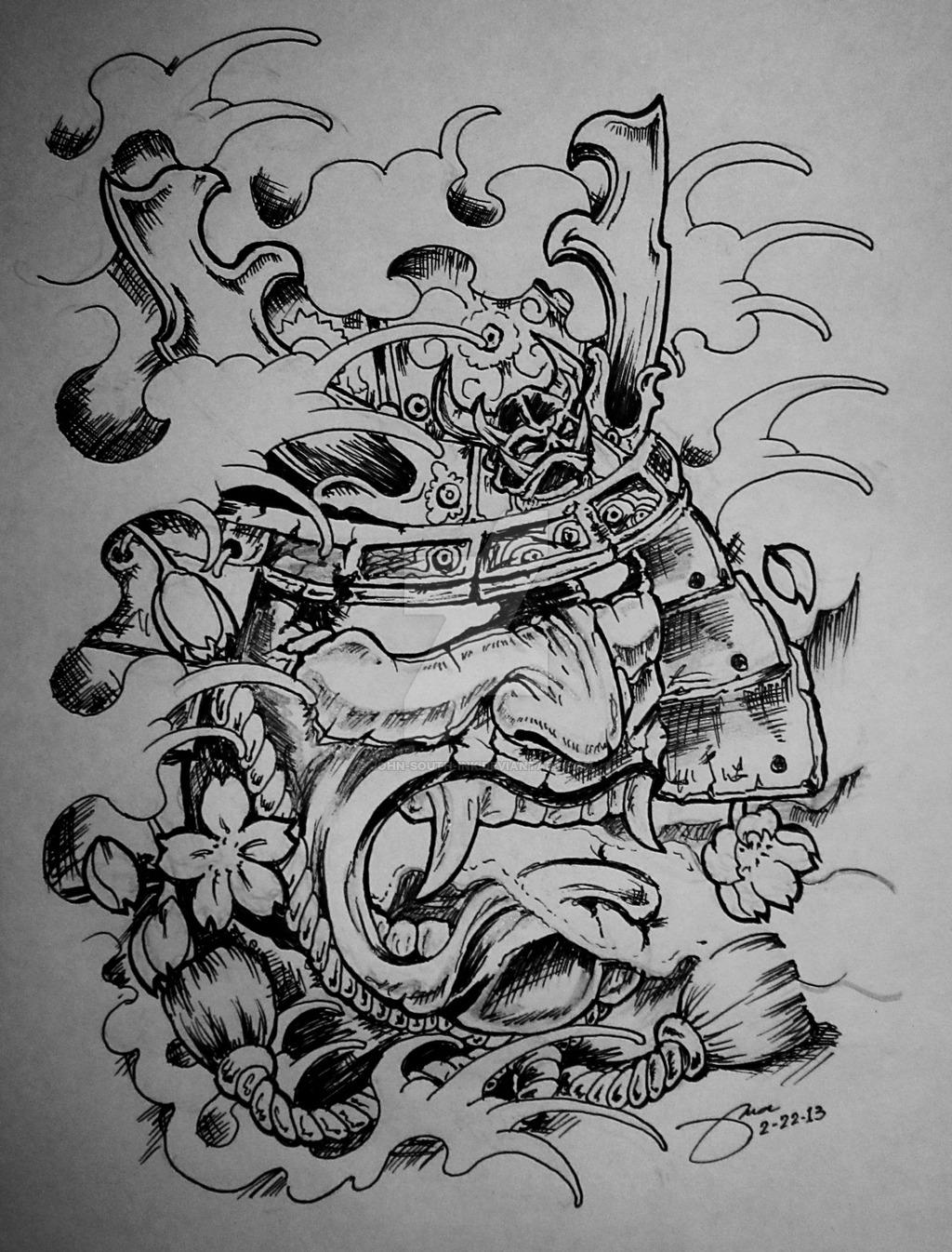 Drawn samurai samurai mask South by john samurai by