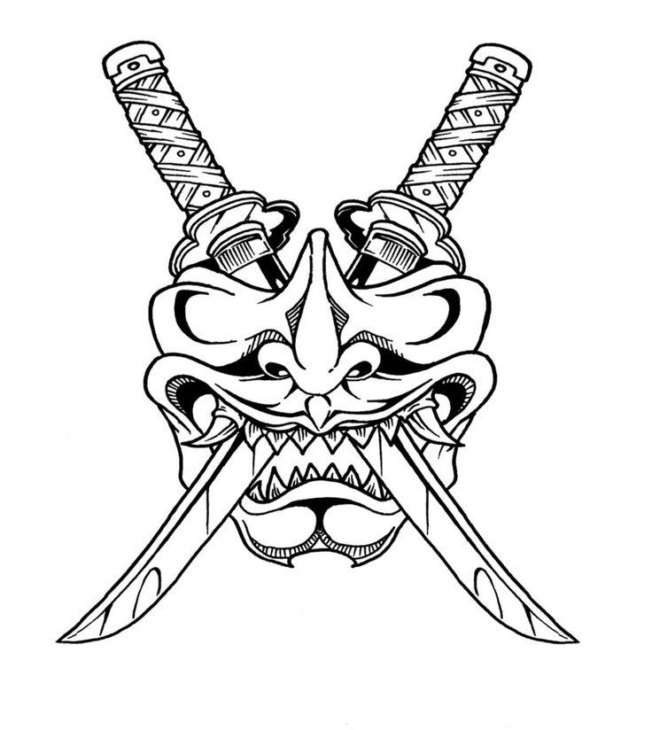 Drawn masks samurai Oriental more 25+ tattoo Find