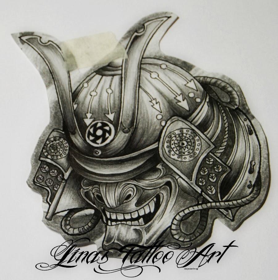 Drawn samurai skull Tattoo Samurai Mask Pinterest Samurai