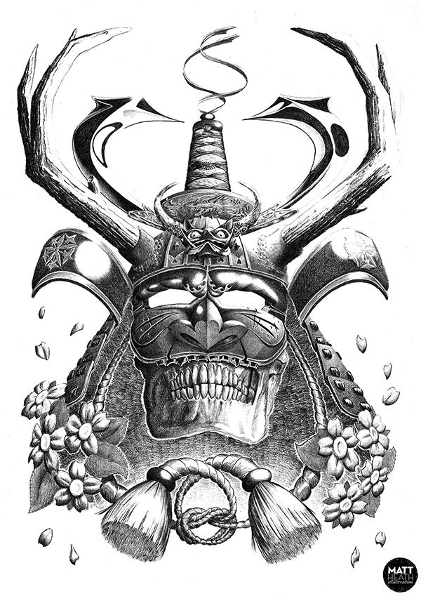 Drawn masks samurai Mask Design  Samurai by