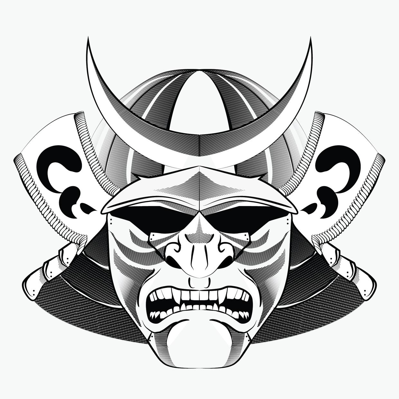 Drawn masks samurai Tube tattoo  Tattoo 15