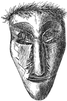 Drawn masks shaman Mask A made wood Wikipedia