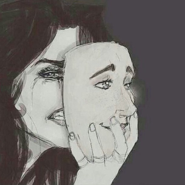Drawn masks tear You Your Are Masking Are