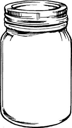 Jar clipart black and white Jar mason tempplates mason