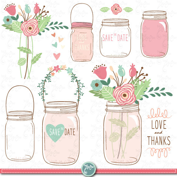 Background clipart mason jar #8