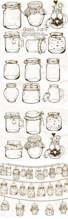 Mason Jar clipart southern EPS ideas art Glass Vintage