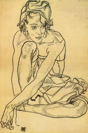 Drawn figurine head position Poses Beginner 1918 Egon the