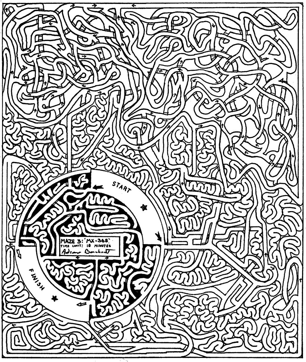 Drawn maze Drawn 10 a Bernhardt's An