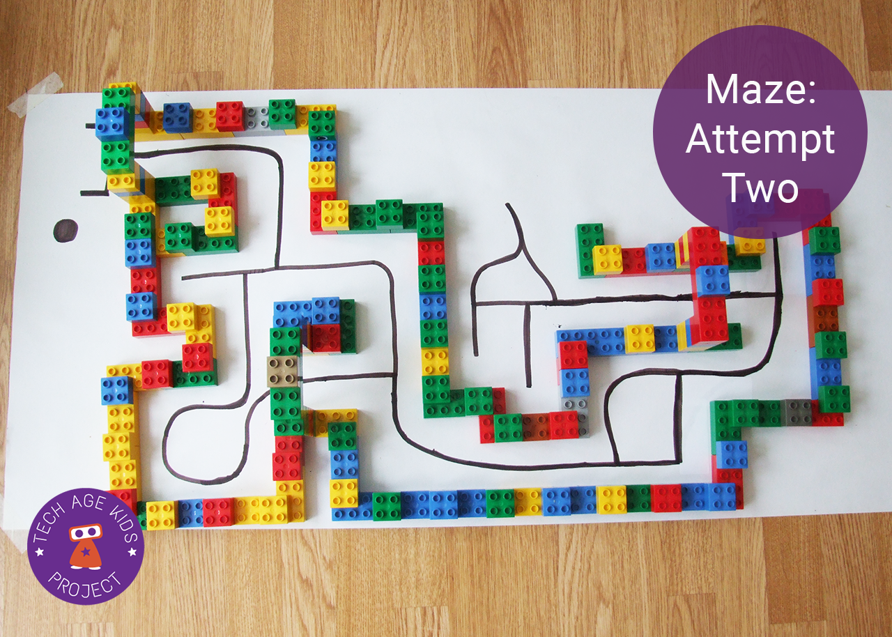 Drawn maze block Code Building with the Ozobot