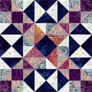 Drawn maze block Quilt 8 grid an block