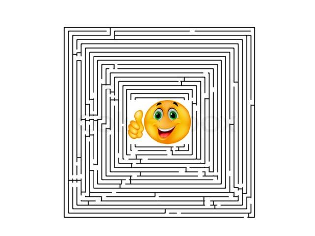 Drawn maze block Maze a to of have