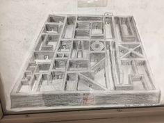 Drawn maze block We ART Perspective 7th class