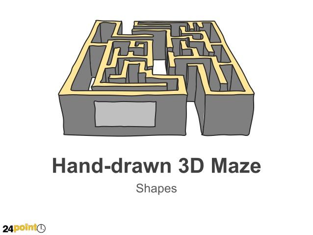 Drawn maze block Text Slides PowerPoint Text Text