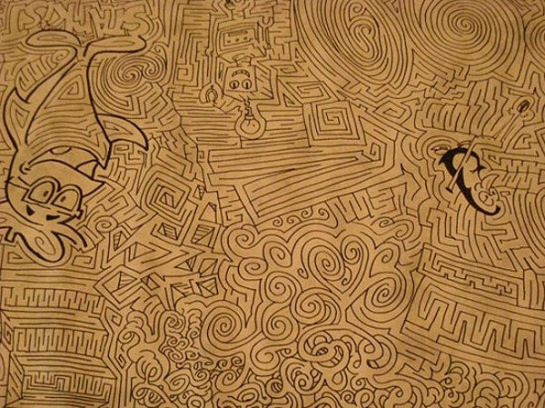 Drawn maze cereal Maze Drawn World's The To