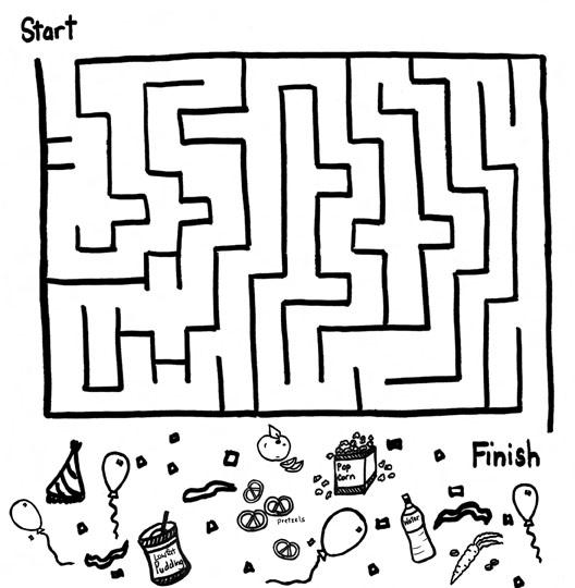 Drawn maze cereal Corner maze Kid's puzzle