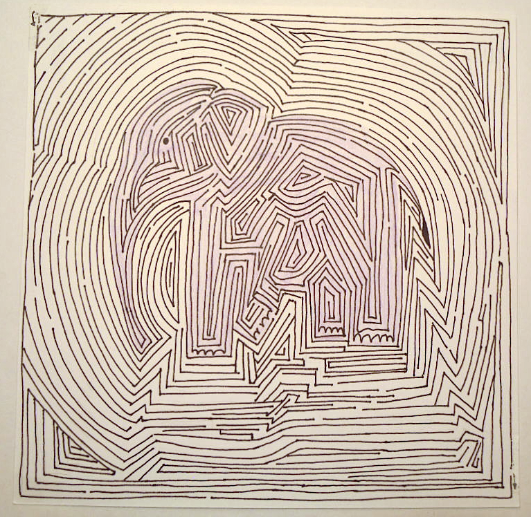 Drawn maze complicated Actually to time Elephant multi