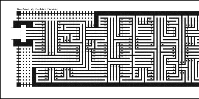 Drawn maze daedalus Scroll progress for 35 MazeScroll