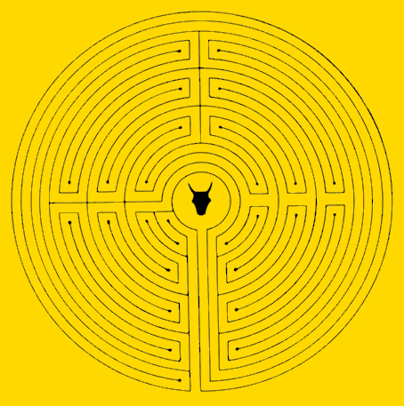 Drawn maze daedalus Maths and Myths Shed Picture