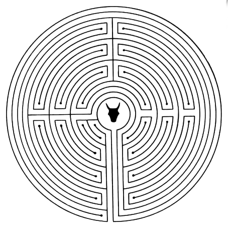 Drawn maze daedalus Fact:#Medieval believed  and ☼~Minotaur's