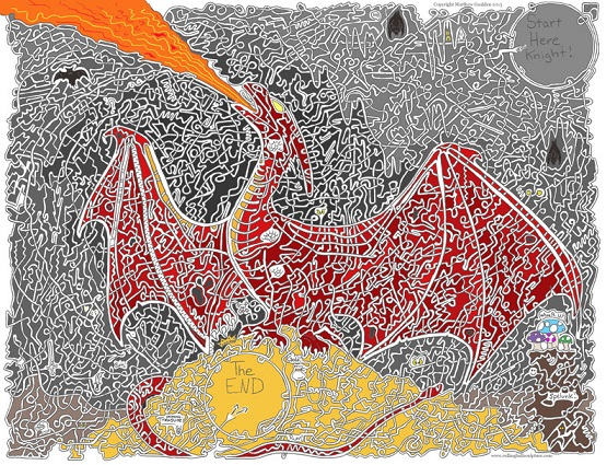 "Drawn maze drawing Drawn maze ""Dragons Sculptures """