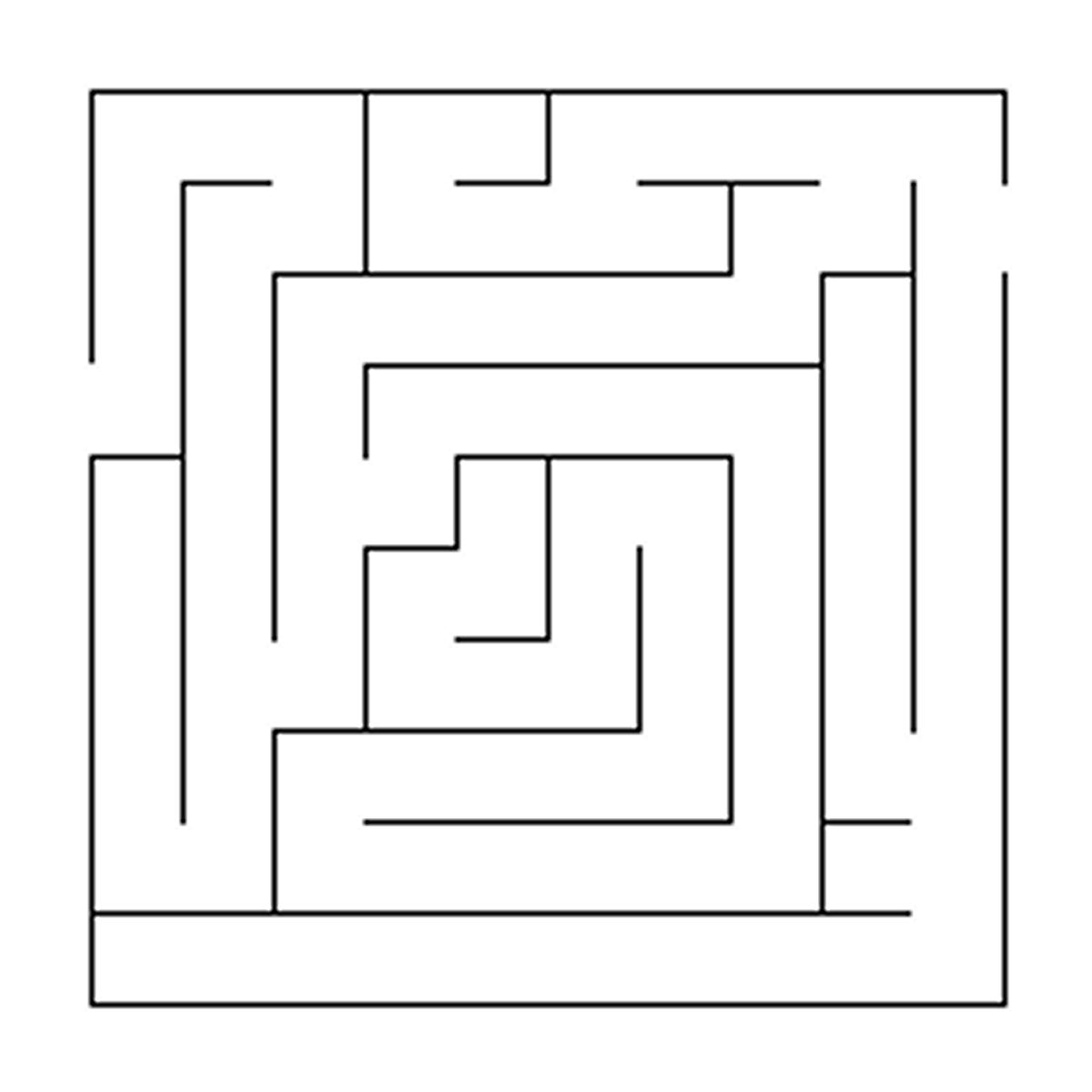Drawn maze easy Pennsylvania Easy Maze printable irwin
