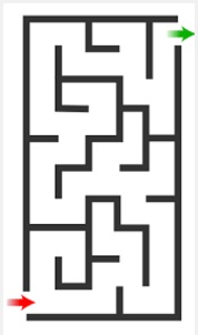 Drawn maze easy Hold complete at dot finger