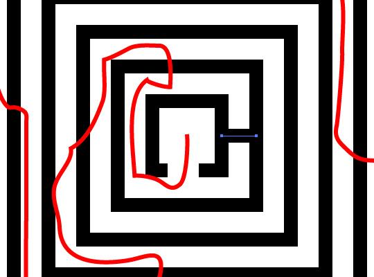 Drawn maze easy Labyrinth Go a at Media™