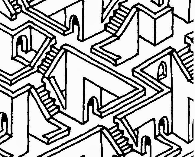 Drawn maze endless Endless Little Stairs March details
