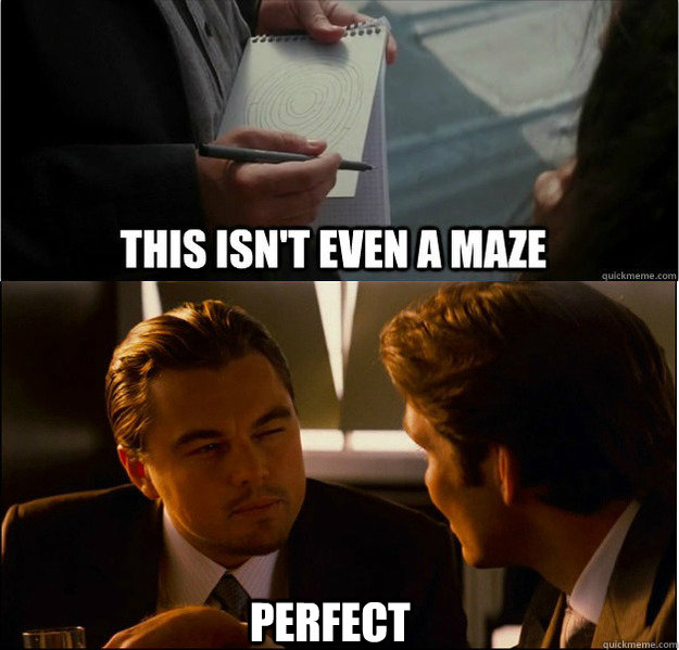 Drawn maze inception Perfect a done Inception Well