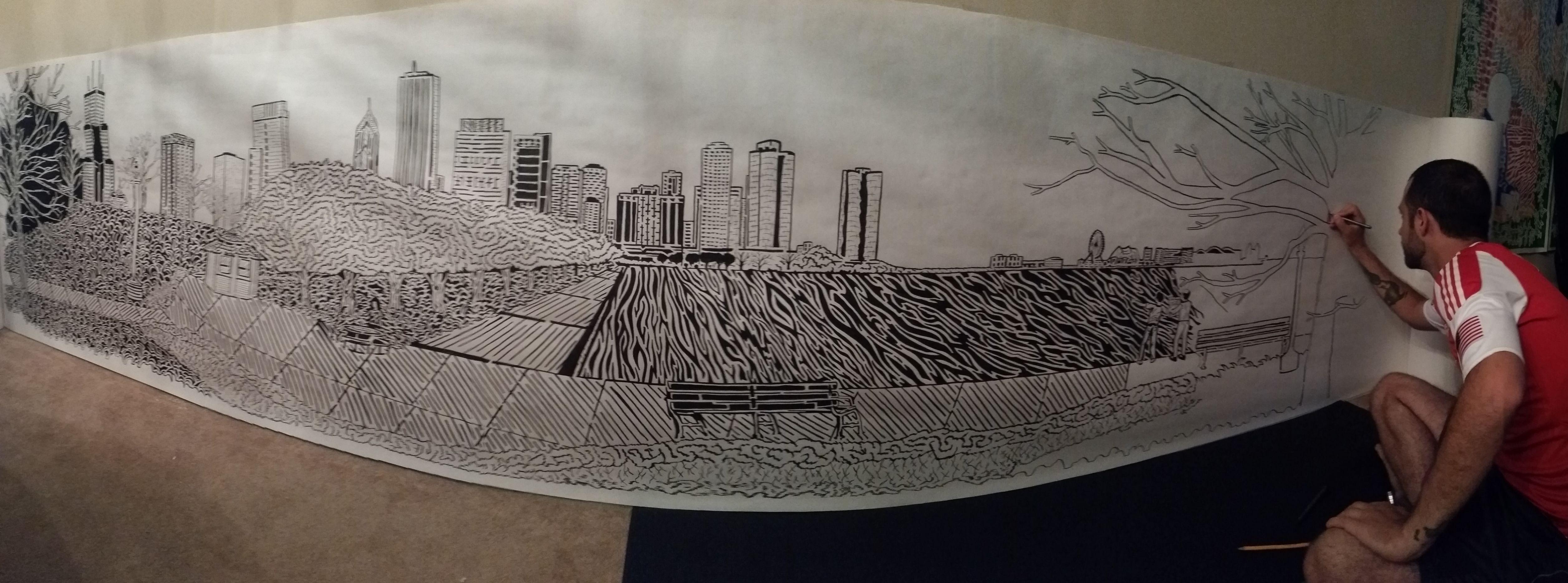 Drawn maze inception Hand breaking Maze pictureHalf to