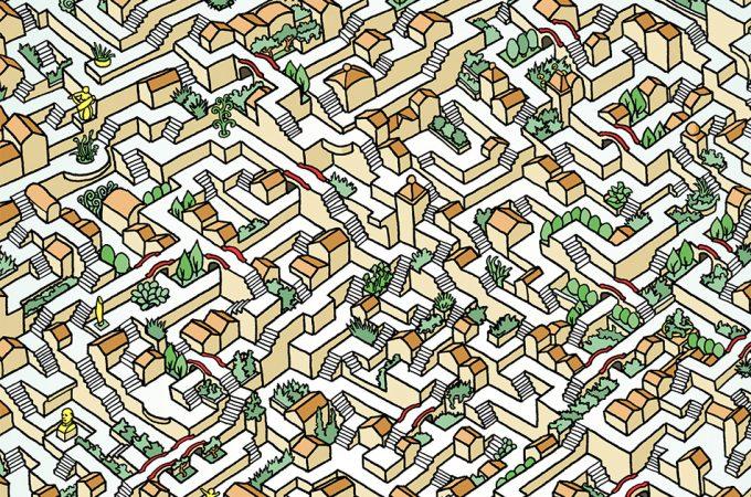 Drawn maze intricate  A + Artist These